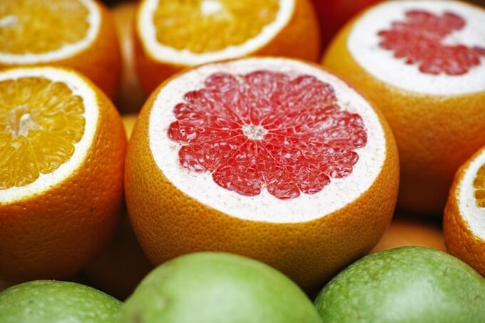 オレンジとグレープフルーツとライム